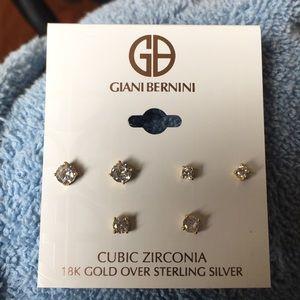 18k gold over Sterling silver stud earrings
